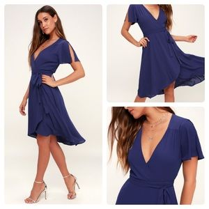 New Lulus Rise to the Occasion Wrap Dress